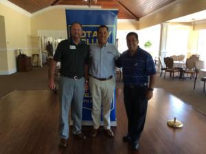 Pictures (L-R) Dr. Tripp Davis, Todd Setzer, President AJ Gohil